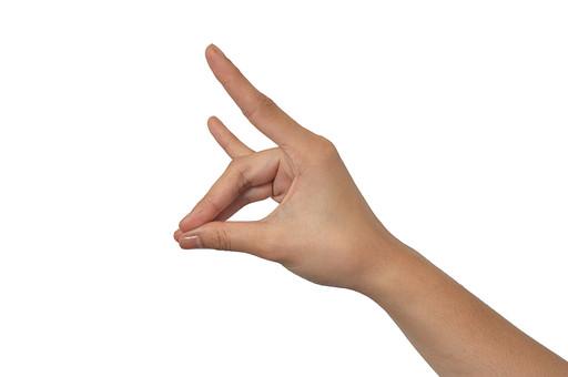 人物 背景 白 白背景 白バック 切り抜き パーツ ボディパーツ 腕 数字 片手 ポイント 指 手首 ジェスチャー 身ぶり 肌 余白  シンプル ハンドパーツ 右手 きつね 影絵 人差し指 小指 手ぶり 人の手