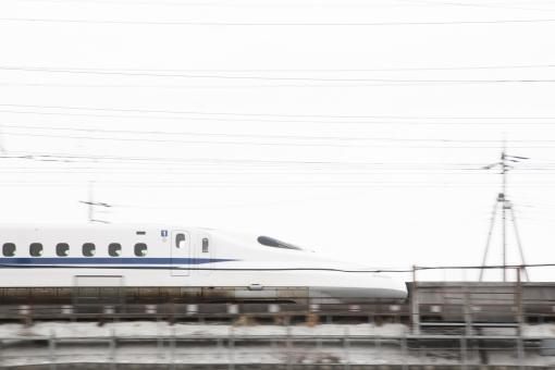 新幹線 のぞみ ひかり 東海道新幹線 鐵道 速い スピード 白 青 ブルー 空 追いシャッター 流し撮り 風景 景色 交通 旅行 輸送