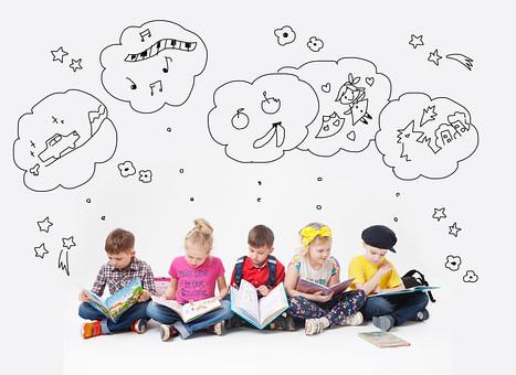 子供達の想像力の写真