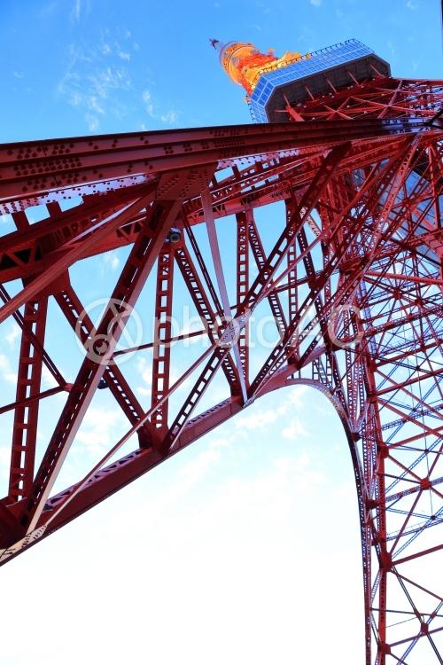 東京タワー画像(縦・下から見上げる)