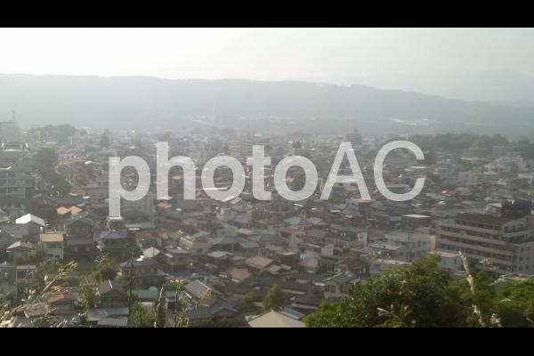 秩父羊山公園高台からの町並みの写真