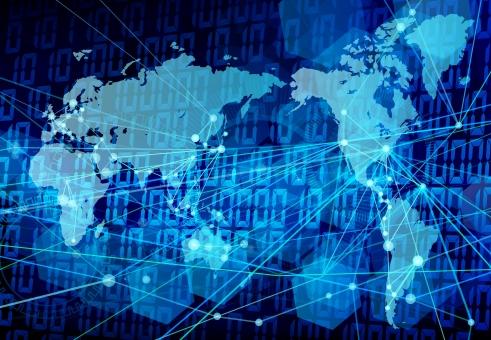 サイバースペースグローバルテクノロジーブルーの写真