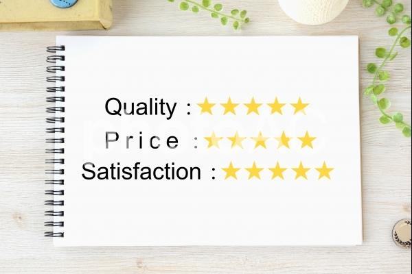 品質と価格と満足度のイメージの写真
