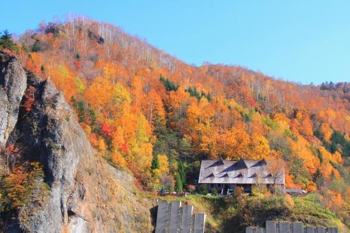 豊平峡の紅葉の写真