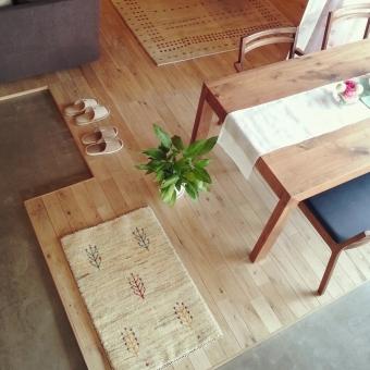 ダイニング リビング LD くらし 家具 風 インテリア テーブル イス 無垢 オーク 床