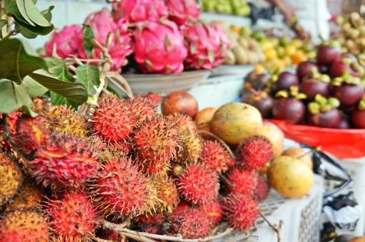 ランプータン レイシ ライチ 南国 フルーツ ビタミン ランブータン 果実 果物 屋台 フルーツショップ ドラゴンフルーツ マンゴスチン 果樹 海外 外国 旅行 アジアン