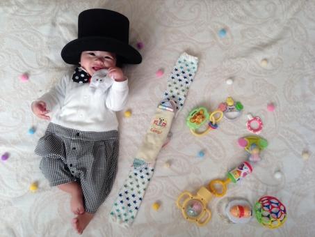 寝相 アート 赤ちゃん あかちゃん 半年 ハーフ 半分 寝相アート ベビー baby 乳児 ベッド ベット