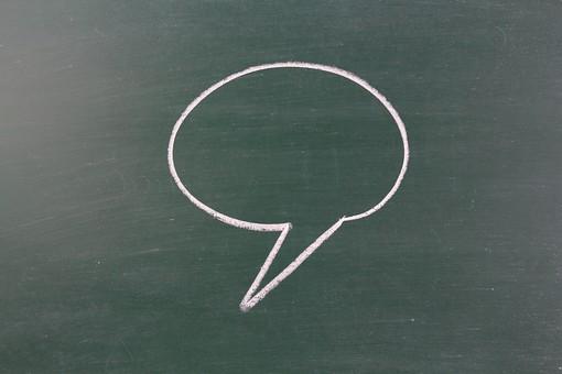 黒板 ブラックボード チョーク ふきだし 吹き出し 絵 マンガ 漫画 セリフ 台詞 会話 言葉 表現 図 絵 描写 書く 描く スケッチ 説明 図解 学習 教育 教室 授業 レッスン 勉強 板書 デザイン イメージ