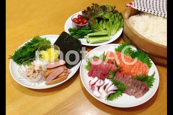 手巻寿司の写真