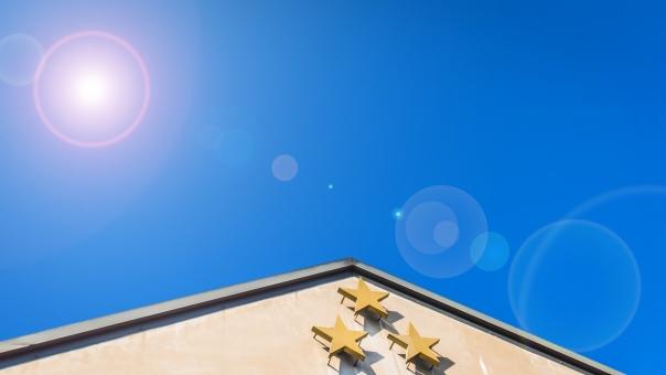 台湾 星 ポイント 晴天 晴れ チャーム ブルー 日差し シンボル 爽快 海外 スター 住まい 住宅 住居 ハウス タウン
