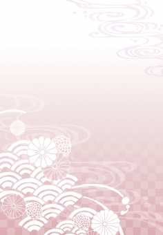 そげ soge 青海波文様 青海波 せいがいは 模様 紋様 文様 和柄 和模様 和紋様 和文様 地紋 和紋 波模様 着物 海 河 川 川面 水 水面 波 線 流水 流水紋 菊 菊模様 菊紋様 菊文様 菊紋 菊柄 花 花模様 花文様 花紋 花紋様 組紐 くみひも 組み紐 組みひも 市松 市松模様 チェック チェッカー 綺麗 きれい キレイ 美しい 風流 雅 飾り 高級 華やか 上品 wave water chrysanthemum pattern beautiful japanese check 和素材 素材 パーツ ごあいさつ ご挨拶 あいさつ 挨拶 グラデーション gradation 縦書き 縦 たてがき たて 長方形 縦向き 縦むき たてむき ピンク pink 桜色 桜 春 spring フレーム 背景 枠 飾り枠 和風 和