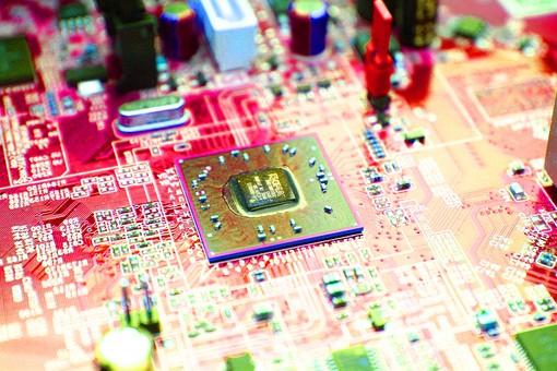 基盤 半導体 電子回路 回路 テクノロジー ボード 電気 IT チップ エレクトロニクス 電子機器 精密機器 マイクロチップ IC CPU 集積回路 プリント基板 トランジスタ 先端技術 コンデンサー 最先端 マイクロコンピューター 制御装置 アイテム パソコン コンピューター マザーボード ビジネス 修理 製造 技術 工業 製品 産業 ケーブル  一面 俯瞰 端子 クローズアップ  素材 写真 アート 加工 赤 ピンク