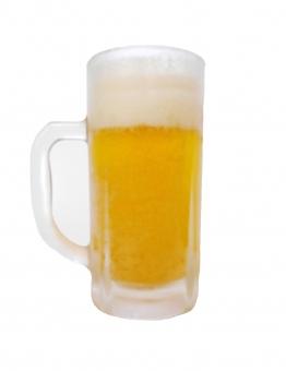 生ビール ビール ジョッキ 大生 中生 ビアホール 居酒屋 飲み会 納涼 納涼会 酒 お酒 白バック 切り抜き 人物なし 人物無し ビールのみ ジョッキのみ 清涼感 ホップ ラガー beer 夏祭り 飲酒 麦芽 ビール酵母 泡 夏場 ビールかけ 乾杯 大ジョッキ 中ジョッキ 晩酌 夏