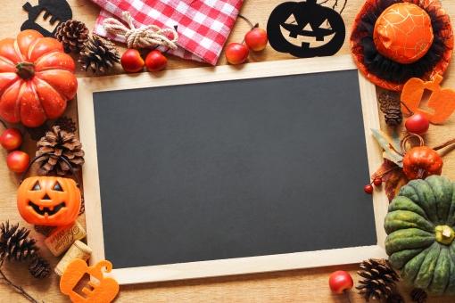 ハロウィン黒板フレームの写真