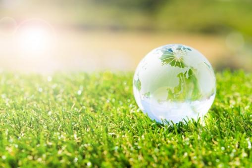 エコロジー グリーン 太陽 アース グラデーション 地球 エネルギー ワールド 世界 省エネ アース 環境 クリーン 清潔 社会問題 晴れ 晴天 生命 日差し 光 芝生 春 夏 新緑 スタート 新生活