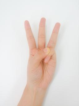 3 3 三つ目 三つめ 3つ目 3つ 三つ 三 数字 数 指 ゆび 手