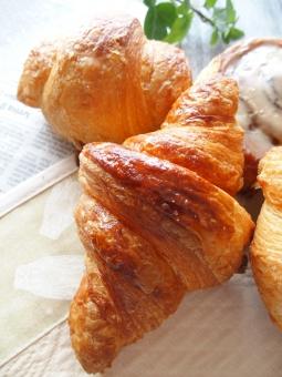 クロワッサン パン 朝食 食べ物 フランス セミのランチョンマット