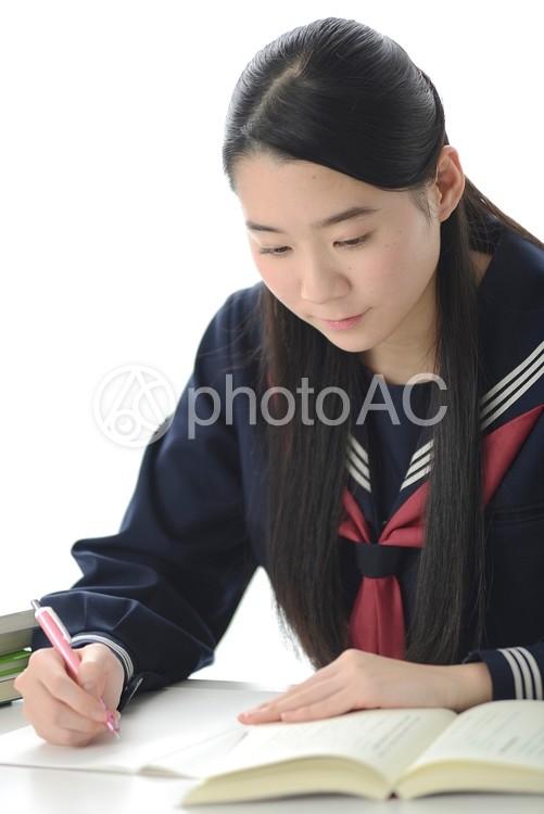 勉強する女子中学生29の写真