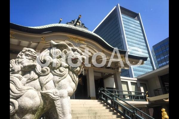 難波神社の狛犬の写真