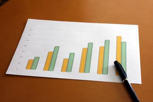 グラフ 棒グラフ 資料 データ 統計 仕事 打ち合わせ 会議 打合せ うちあわせ 提案 推移 分析 書類 企画 計画 見通し 見込み 予測 営業 紙 データ化 グラフ化 ぼうぐらふ 図 数字 実績 業績 変動 動き
