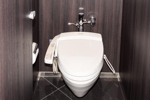 トイレ トイレット 清潔 便所 個室 ウォシュレット 便器 きれい トイレットペーパー 木目 新しい