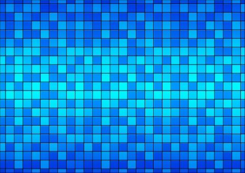 背景 背景素材 バックグラウンド テクスチャ テクスチャー タイル 壁 ピクセル ブルー モザイクタイル モザイク 床 ドット 青い デジタル 四角 スクエア 角ばった バック イメージ 並んだ 整然とした グラデーション 綺麗な 青い壁 青 お風呂 レトロな 古い プール