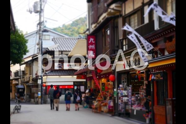 宮島の街並みの写真