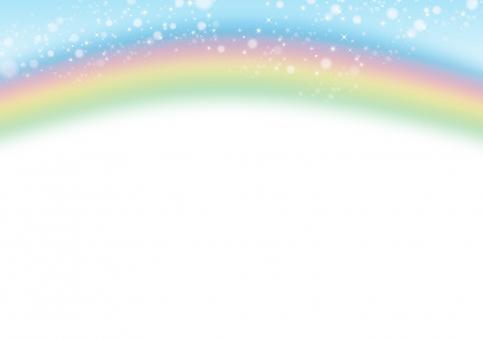 レインボー 七色 カラフル 空 晴れ 雨上がり きらきら きれい 虹 にじ