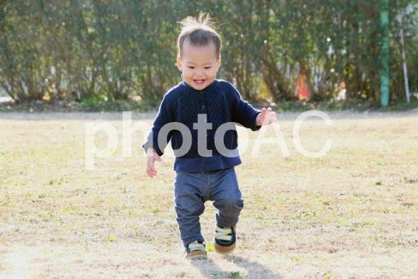 歩く赤ちゃんの写真