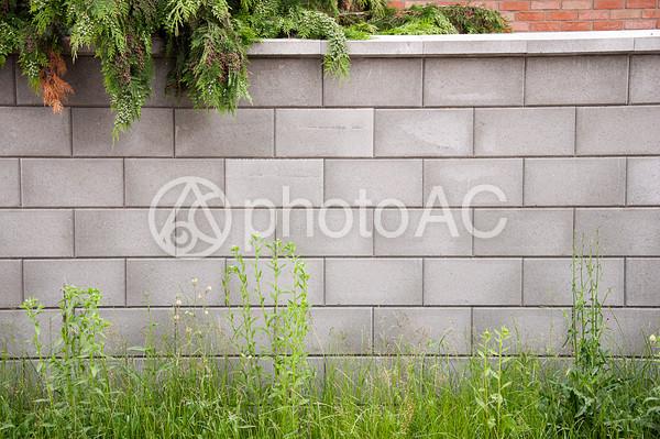 チェコの町並み ブロック塀の写真