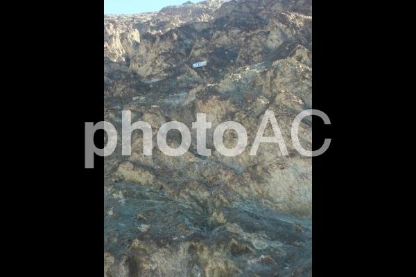 デスバレー、海抜ゼロ表示の写真