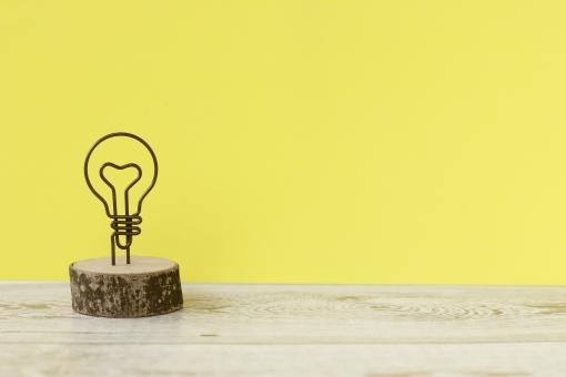 電球の背景の写真