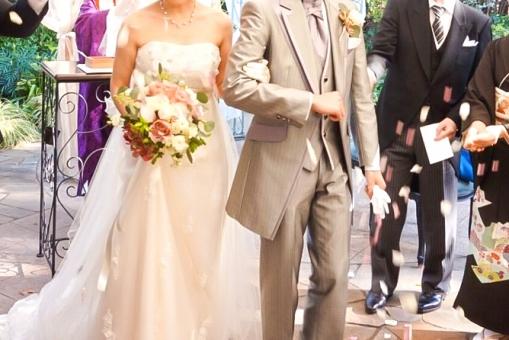 結婚式 フラワーシャワー1の写真