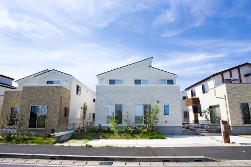 新興住宅街の写真