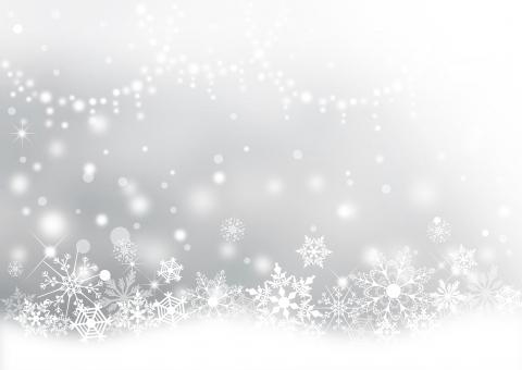 クリスマス_淡いシルバー背景の写真
