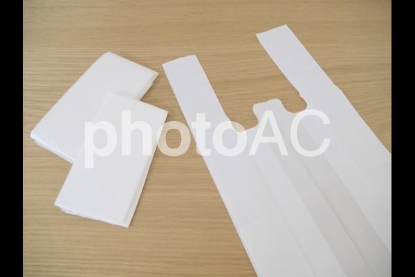 レジ袋の再利用の写真
