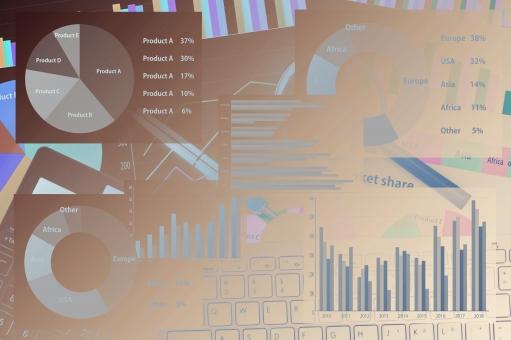 グラフイメージの写真