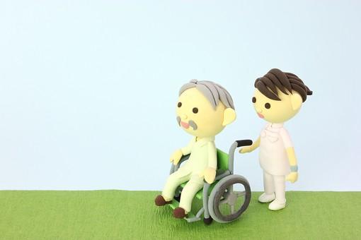 クレイ クレイアート クレイドール ねんど 粘土 クラフト 人形 アート 立体イラスト 粘土作品 かわいい 人物 仕事 働く 医療 福祉 介護 看護士 看護婦 ナース 女性 白衣 病院 診察