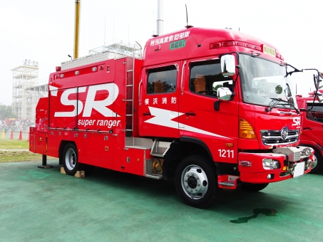 消防車 消防自動車 スーパー レンジャー 緊急 救急 赤 消防 救助 自動車 車 男の子 防災 訓練 支援 仕事