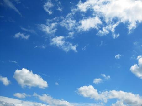 青空 あおぞら 空 そら 雲 くも 自然 風景 青 白 もくもく モクモク ふわふわ フワフワ コピースペース 素材 背景 壁紙 blue sky white cloud