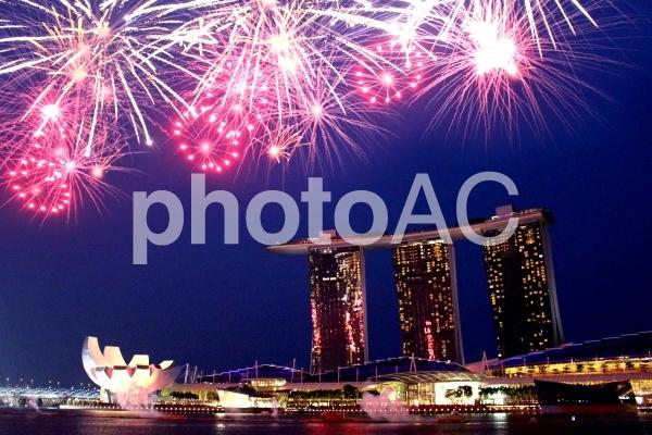シンガポールの夜景3の写真