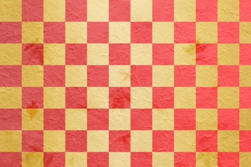 市松模様 背景 金色 ゴールド 赤 グラデーション 和紙 和柄 おめでたい 寿 壁紙 お正月 年始 1月 2月 新年 年賀 御祝い お祝い テクスチャ 新春 初売り 迎春