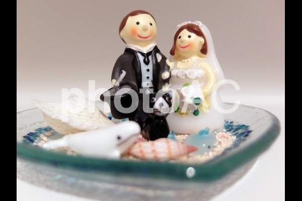 結婚式のディスプレイの写真