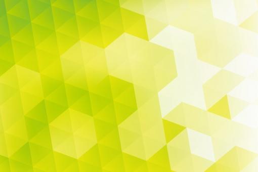 背景 夏 テクスチャ 抽象的 光  フレーム 白 キラキラ テクノロジー 幾何学 パソコン コンピュータ グラフィック デジタル 緑 グリーン エコ 三角形 六角形 科学 ビジネス ネット 現代的 ウェブ イラスト カード 葉 葉っぱ 新緑