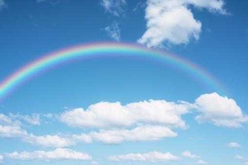 虹と青空の写真