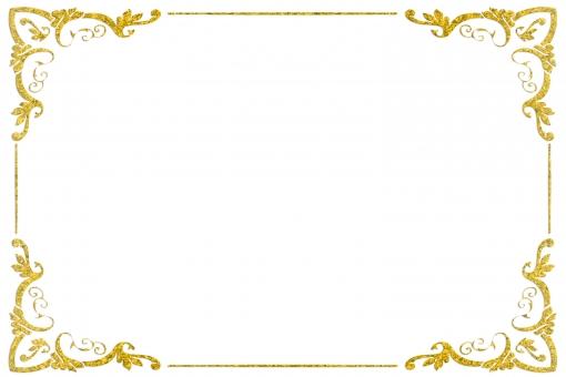 ゴールドフレーム psdの写真