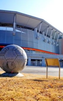 サッカー スタジアム スポーツ 運動 球技 サッカー場 ボール Jリーグ パルセイロ 横山 女子 なでしこ
