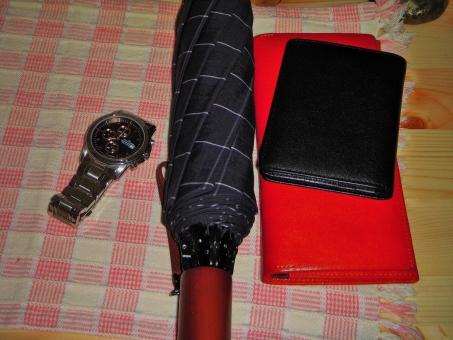 折り畳み傘 サイフ 定期券入れ 腕時計 男性用 机 折り畳み傘 折り畳み傘