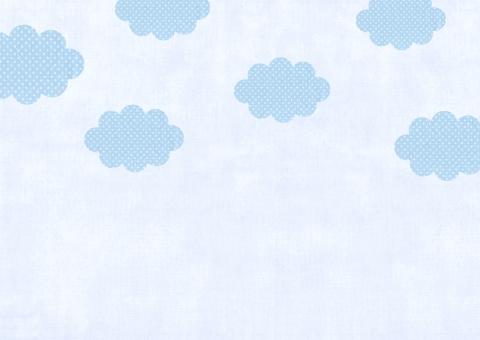 布 パーツ パッチワーク 素材 空 ドット ドット柄 背景 バック 手芸 ハンドメイド 雲 クラフト 水色 青 ブルー sky 水玉模様 水玉 みずたま 壁紙 テクスチャ テクスチャー カントリー