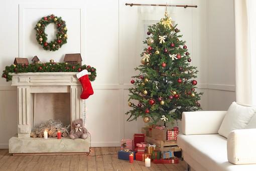 クリスマス仕様の部屋の写真